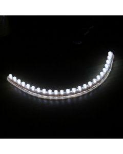 Flexibele ledstrip waterproof 24 leds wit licht