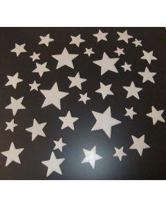 Glow in the dark grote en kleine sterren