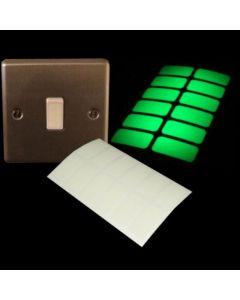 Glow in the dark lichtschakelaar stickers