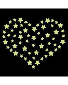 Glow in the dark stickervel sterren
